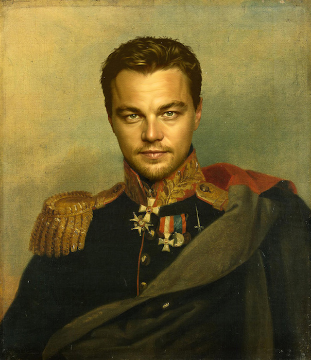Celebrities as Neoclassical Paintings